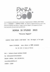 borsa di studio x Novello